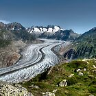 Great Aletsch Glacier by Derivatix