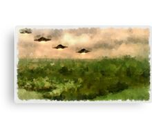 UFO - Invasion Force 4 by Raphael Terra Canvas Print