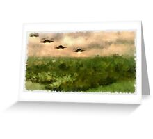 UFO - Invasion Force 4 by Raphael Terra Greeting Card