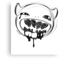 Sketch Monster Black Canvas Print