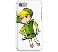 Link from Legends of Zelda - Windwaker iPhone Case/Skin