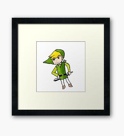 Link from Legends of Zelda - Windwaker Framed Print