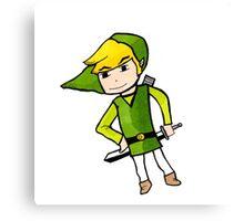 Link from Legends of Zelda - Windwaker Canvas Print
