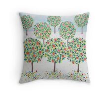 Summer Orchard Throw Pillow
