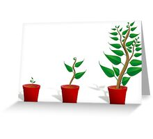 Plant Growth Greeting Card