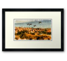 UFO - Invasion Force 7 by Raphael Terra Framed Print