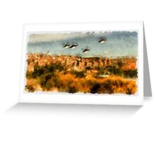 UFO - Invasion Force 7 by Raphael Terra Greeting Card