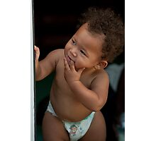 Peek-a-Boo Baby Photographic Print