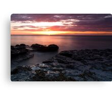 Outgoing Tide, Up Coming Sun Canvas Print