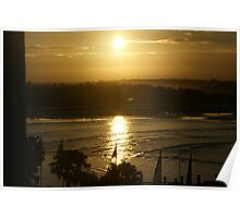 Sunset over Port Macquarie Poster