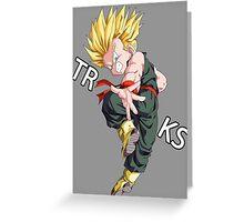 dragon ball z vegeta trunks super saiyan anime manga shirt Greeting Card