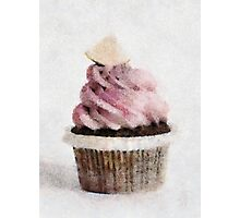 Raspberry and Lime Cupcake Photographic Print