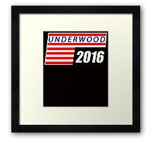 underwood 2016 Framed Print