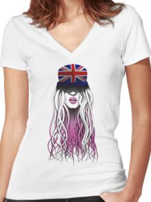 World Rebellion 2015 - UNITED KINGDOM Women's Fitted V-Neck T-Shirt