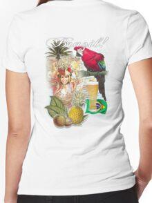 brazil Women's Fitted V-Neck T-Shirt