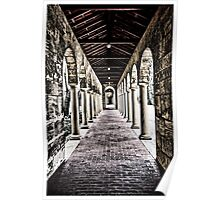 Arched Corridor Poster
