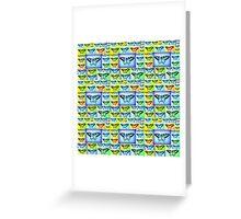 blue fantasy Greeting Card