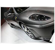 Ferrari 430 Modena Gunmetal Grey - Geneva Motorshow Poster
