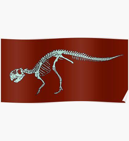 Psittacosaurus mongoliensis, skeleton Poster