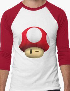 Mushroom Wink Men's Baseball ¾ T-Shirt