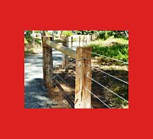 *New Post & Wire Fence around Walking path* Unisex T-Shirt