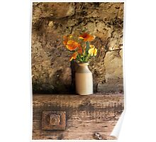 Orange Pansies Poster