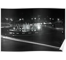 B&W Fountain and Light Poster