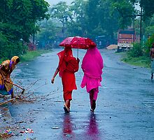 Walking in The Rains by Mukesh Srivastava