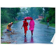 Walking in The Rains Poster
