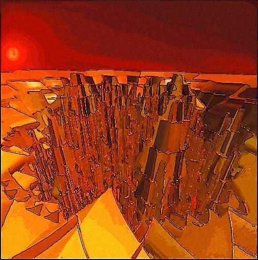 Dawn on The Metropolis of Metallica by dtomw
