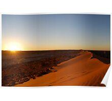 sunset at Simpson desert Poster
