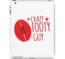 Crazy AFL Guy with Afl football iPad Case/Skin