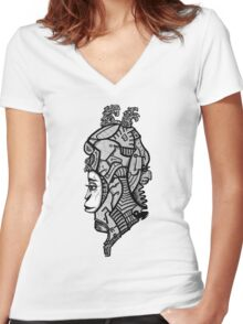 Sci-fi character  Women's Fitted V-Neck T-Shirt