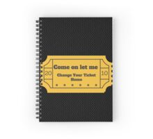 """One Direction- """"Come on let me change your ticket home"""" Spiral Notebook"""