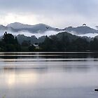 Morning mist , Tweed River, August 2008 by Odille Esmonde-Morgan