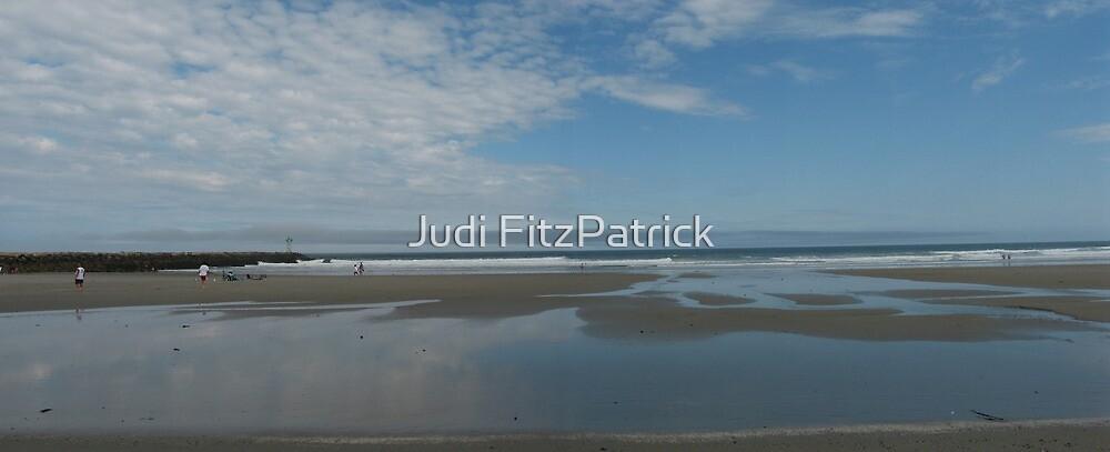 Wells Beach Pano by Judi FitzPatrick