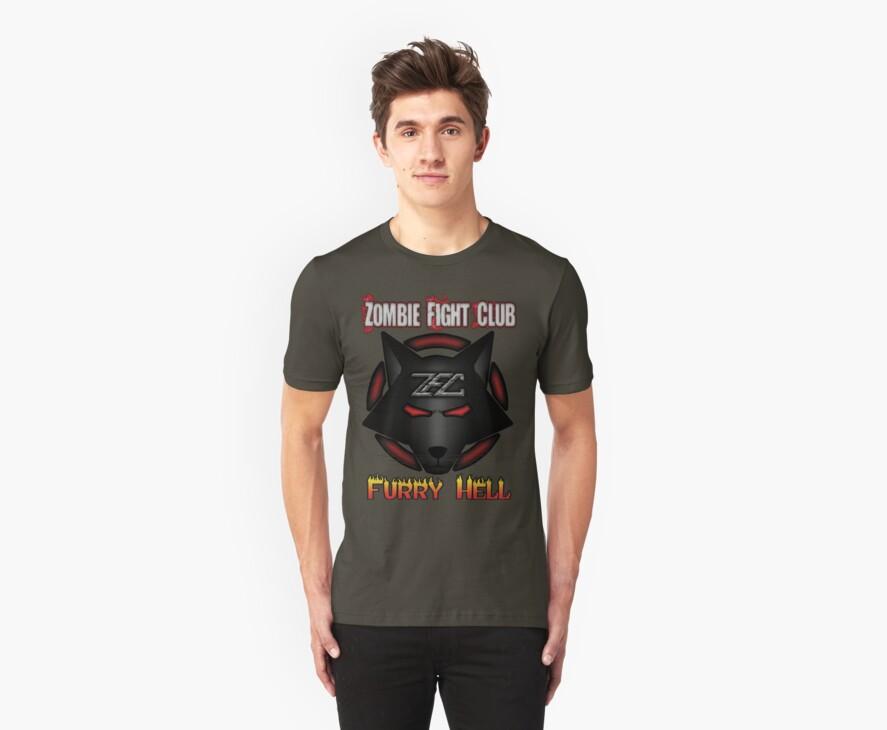 Zombie Fight Club T-Shirt by psyrecx