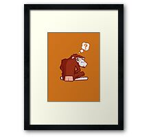 Monkey WTF??? Framed Print