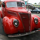 1937 Red Ford by heatherfriedman
