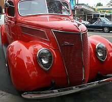 1937 Red Ford by Heather Friedman