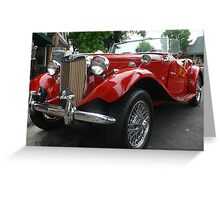 1952 MG TD Greeting Card