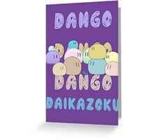 Dango Dango Daikazoku Greeting Card