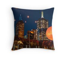 The Sun in Federation Square Throw Pillow
