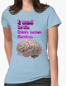 I want brain have more broken, google translate version Womens Fitted T-Shirt