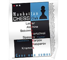 Manhattan Chess Club Poster iPhone ipad Samsung Cases Skins Poster