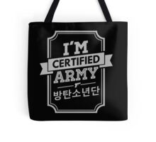 Certified BTS ARMY Tote Bag