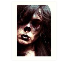 Monkey zombie Art Print