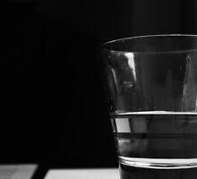 Half full or half empty glass by Bora
