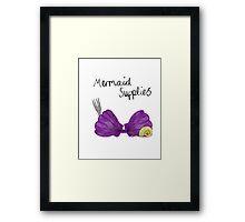 Mermaid Supplies Framed Print