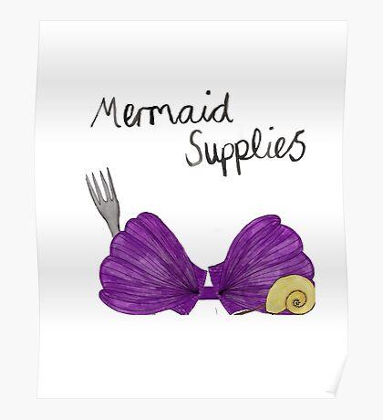Mermaid Supplies Poster